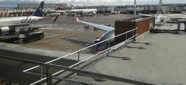 KeeGuard roof edge protection at Heathrow Airport