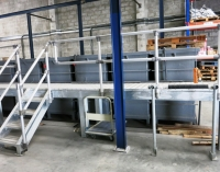 Kee Lite handrails used to protect new Aluminium Anodising Plant in Dubai, UAE