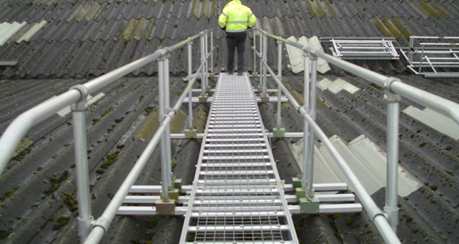 Roof Walk Boards : Safe access to fragile roofs kee safety uk