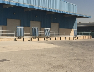 Guardrail for loading bays at a logistics company