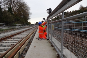 Kee Klamp handrails provide safety on the Brighton rail line