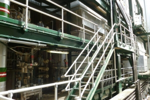 Aluminium handrails installed at the SWCC sea desalination water plant in Jeddah