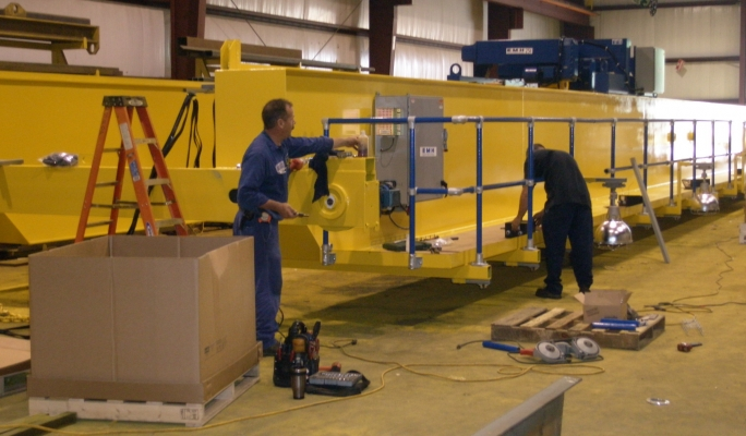 Overhead Crane Vibration : Handrail system for an overhead crane kee safety inc