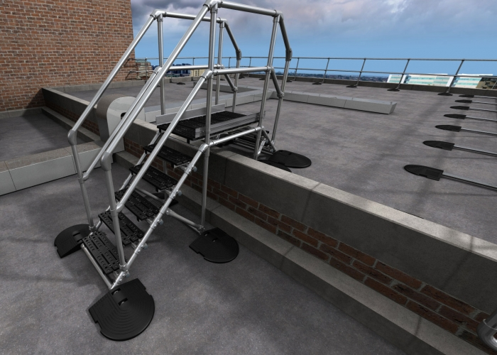 Bespoke step overs kee safety uk - Key steps removal asbestos roofs ...