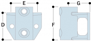 265 - Offset Rail Wall Flange