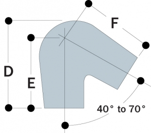 56 - Acute Angle Elbow, 30º to 45º