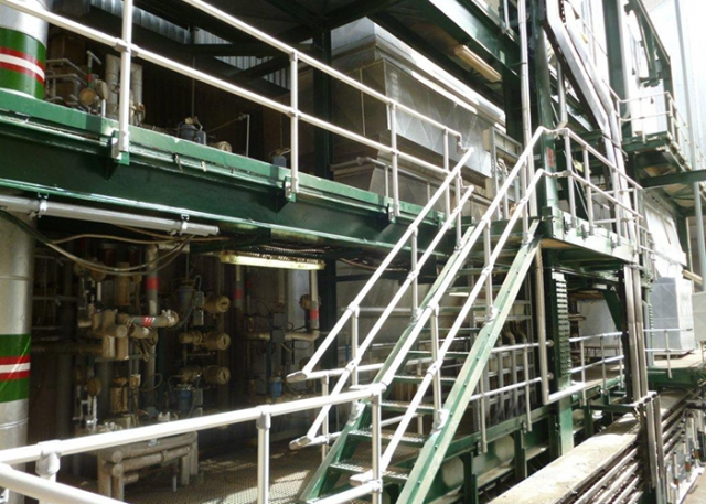 Kee Safety LLC provides safety handrails for the SWCC sea desalination water plant in Jeddah