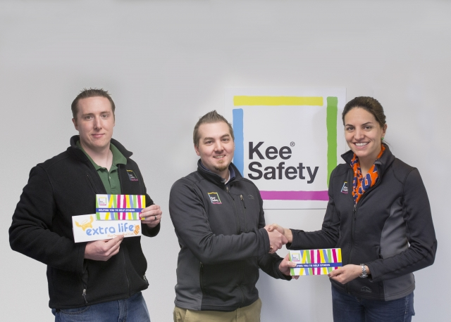 "Kee Safety Donates to Children's Miracle Network ""Extra-Life"" Event"