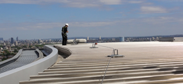 KeeLine® for Roofs installed by Kee Safety fall protection partner