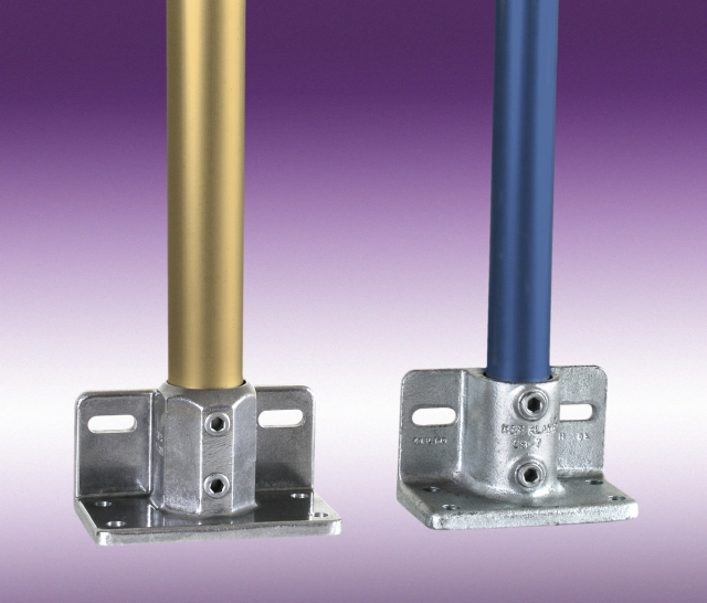 New kee klamp and lite base mount structural pipe