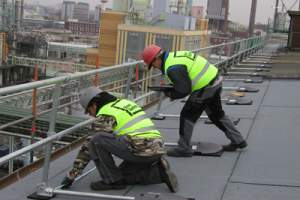 Free-Standing Rooftop Fall Protection
