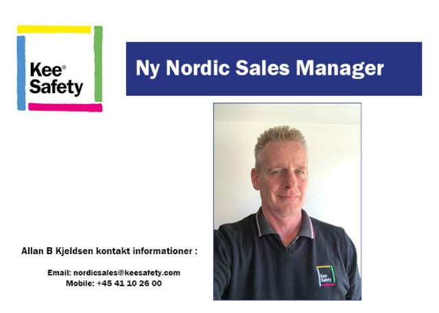 Ny Nordic Sales Manager hos Kee Safety