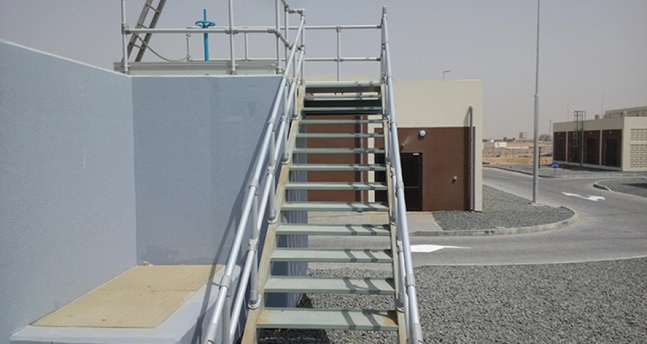 Aluminium anodised handrails installed in the UAE