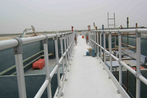 Aluminium Anodised Handrails for a Wastewater Treatment Plant