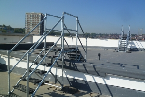 Bespoke roof step overs for an apartment development