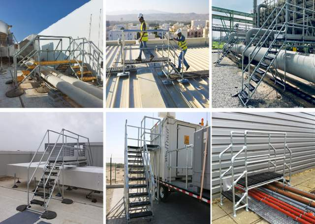 Where to use bespoke step over access platforms