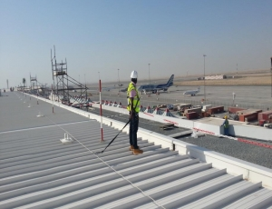 Wire fall protection system - the Dubai World Central