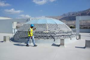 Circular Guardrail around Roof Top Dome