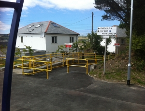 DDA handrails at Hayle Railway Station