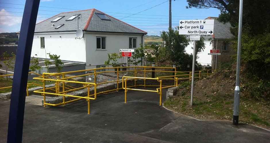 Kee Access DDA Handrails at Hayle Railway Station