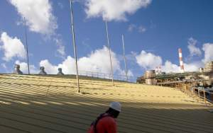 Roof edge fall protection for a chemical plant on Jurong Island in Singapore