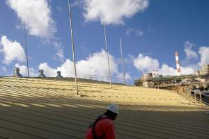 Roof Edge Protection For Chemical Plant On Jurong Island