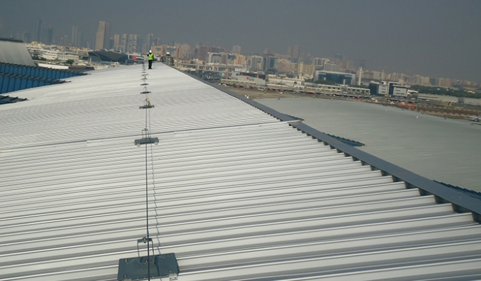 Fall Restraint Systems Installed At The Dubai Flower