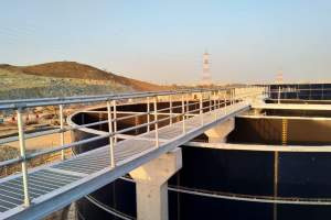Aluminium Guardrail installation on Kalba Sewage Treatment Plant