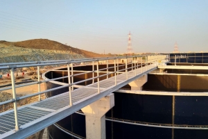 Aluminium Guardrail installation on Kalba Sewerage Treatment Plant