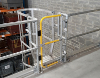 Full Height Gates Provide Safe Rooftop Access From Ladders