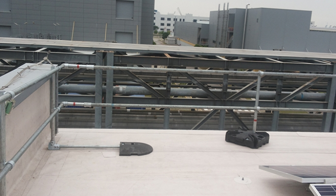 Edge Protection For Roofs With Limited Space Kee Safety Uk