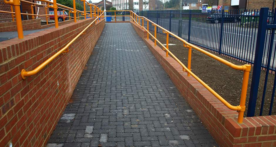 Kee Access DDA Handrails at Stainles railway station