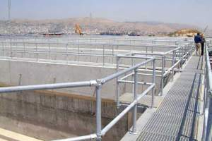 Kee Klamp Guardrails at the Psyttalia WWTP in Greece