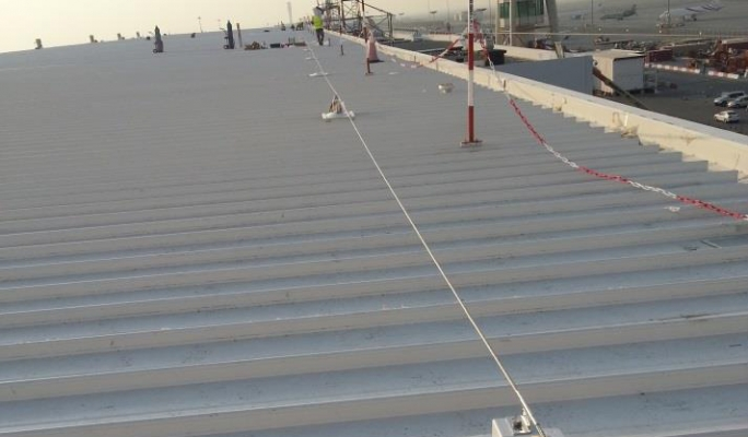 Wire fall protection system