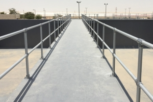 Abu Dhabi Sewerage Services Company searched for non-conductive guardrail