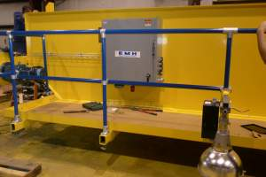 Handrail System for an Overhead Crane