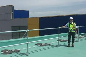 Roof edge protection installed on IKEA roofs in South Korea