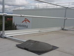 Roof edge protection for ArcelorMittal