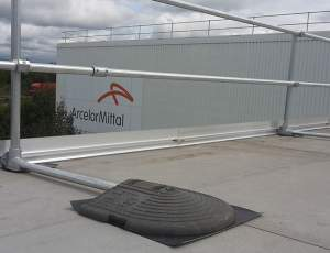 Roof edge protection system for ArcelorMittal