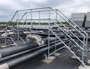 Safe Roof Access Platform Solution for Danish Client