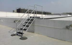 Roof top walkway and Kee Klamp step over