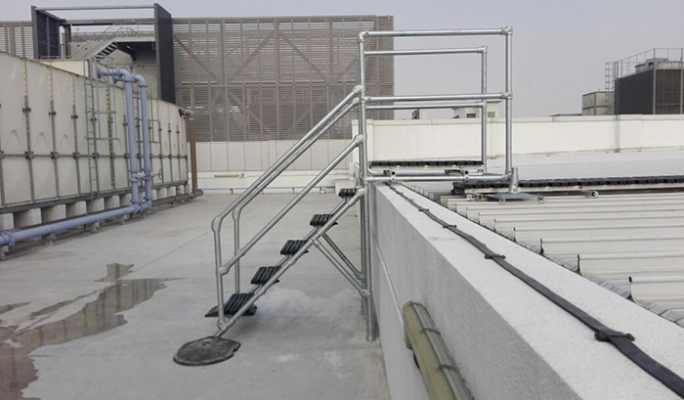Fall protection systems provide safe access to a standing