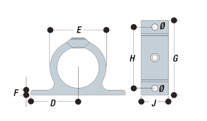 200 - Double Sided Fixing Bracket