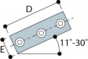 328 - Two Socket 11°–30°Cross