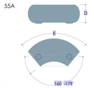 55A - Variable Elbow, 11º to 30º
