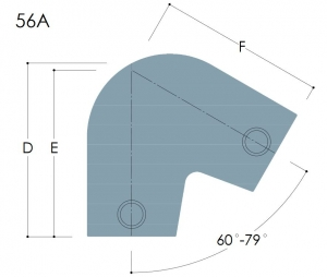 56A - Acute Angle Elbow 11º to 30º