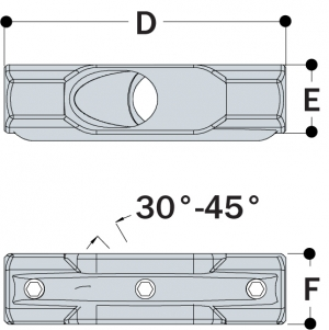 L30 - 30° to 45° Adjustable Cross
