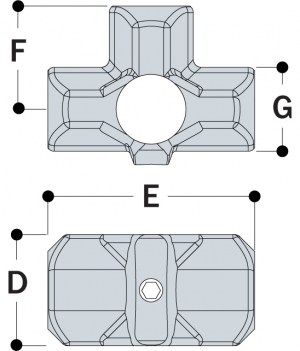 L35 - Three Socket Cross
