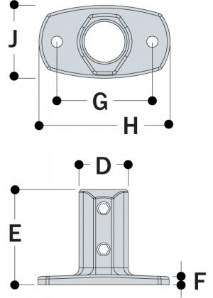L62 - Standard Railing Flange
