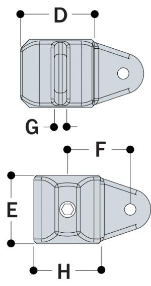 LM52 - Male Corner Swivel Socket Member